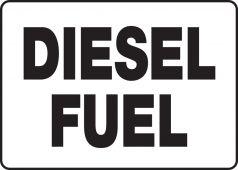 - Safety Sign: Diesel Fuel