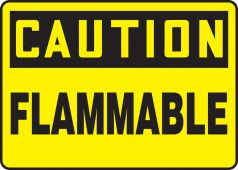 - OSHA Caution Safety Sign: Flammable