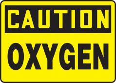 - OSHA Caution Safety Sign: Oxygen