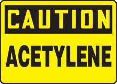 - OSHA Caution Safety Sign: Acetylene