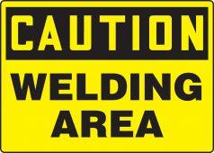- OSHA Caution Safety Sign: Welding Area