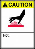 - ANSI Caution Safety Sign: Hot
