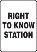 - Safety Sign: Right To Know Station