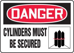 - OSHA Danger Safety Signs: Cylinders Must Be Secured (Graphic)