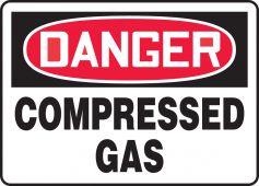 - OSHA Danger Safety Sign: Compressed Gas