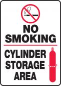 - No Smoking Safety Sign: Cylinder Storage Area
