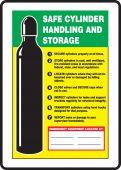 - Safety Sign: Safe Cylinder Handling And Storage