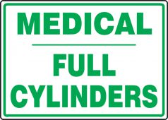 - Safety Sign: Medical - Full Cylinders