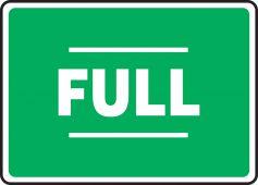 - Safety Sign: Full