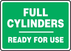 - Safety Sign: Full Cylinders Ready For Use