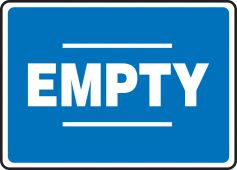 - Chemical Drum Sign: Empty