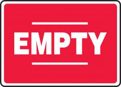 - Safety Sign: Empty (Red)