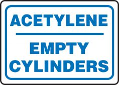 - Safety Sign: Acetylene - Empty Cylinders