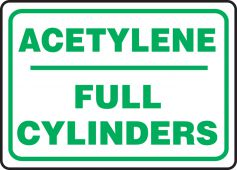 - Safety Sign: Acetylene - Full Cylinders