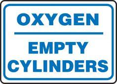 - Safety Sign: Oxygen - Empty Cylinders