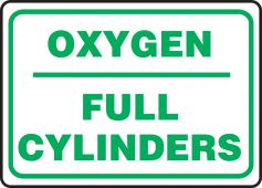 - Safety Sign: Oxygen - Full Cylinders