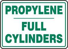 - Cylinder Sign: Propylene Cylinder Status