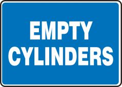 - Safety Sign: Empty Cylinders