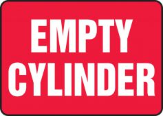 - Safety Sign: Empty Cylinder