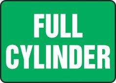 - Safety Sign: Full Cylinder
