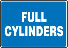 - Safety Sign: Full Cylinders