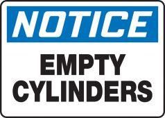 - OSHA Notice Safety Sign: Empty Cylinders