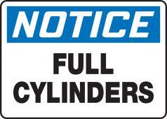 - OSHA Notice Safety Sign: Full Cylinders