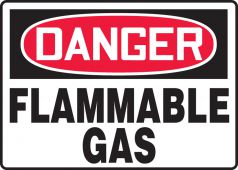 - OSHA Danger Safety Sign: Flammable Gas
