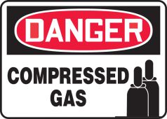 - OSHA Danger Safety Sign: Compressed Gas (Graphic)