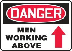 - Contractor Preferred OSHA Danger Safety Sign: Men Working Above