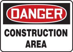 - OSHA Danger Safety Sign: Construction Area