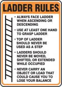 - Safety Sign: Ladder Rules