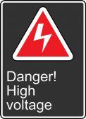- Safety Sign: Danger! High Voltage