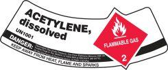 - Cylinder Shoulder Labels: Acetylene, Dissolved