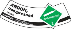 - Cylinder Shoulder Labels: Argon, Compressed