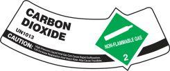 - Cylinder Shoulder Labels: Carbon Dioxide