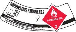 - Cylinder Shoulder Labels: Compressed Gases, Flammable, N.O.S.