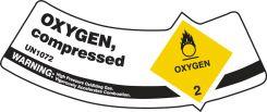 - Cylinder Shoulder Labels: Oxygen, Compressed