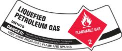 - Cylinder Shoulder Labels: Liquefied Petroleum Gas