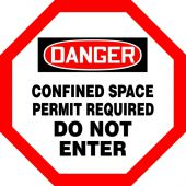 - OSHA Danger Shape Safety Sign: Confined Space - Permit Required - Do Not Enter
