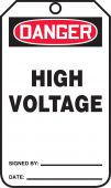 - OSHA Danger Safety Tag: High Voltage