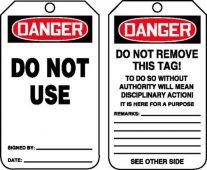 - OSHA Danger Safety Tag: Do Not Use