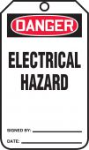 - OSHA Danger Safety Tag: Electrical Hazard