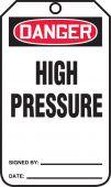 - OSHA Danger Safety Tag: High Pressure