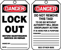 - OSHA Danger Safety Tag: Lock Out Before Service Or Repair