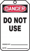 - Jumbo OSHA Danger Safety Tag: Do Not Use