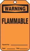 - OSHA Warning Safety Tag: Flammable