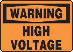 - OSHA Warning Safety Sign: High Voltage