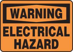 - Warning Safety Sign: Electrical Hazard