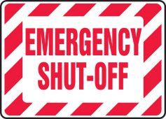 - Safety Sign: Emergency Shut-Off